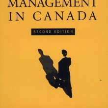 Political Management in Canada by Sandford Borins